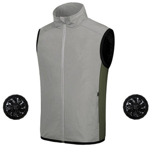 Men's Air Conditioned Cooling Jacket Ice Vest | Zincera