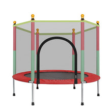 Load image into Gallery viewer, Small Indoor Jump Trampoline With Enclosure For Kids | Zincera