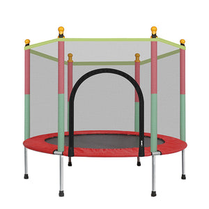 Small Indoor Jump Trampoline With Enclosure For Kids | Zincera