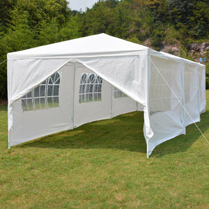 10' x 30' Portable White Party Canopy Event Tent | Zincera