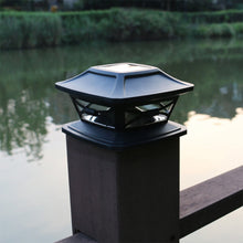 Load image into Gallery viewer, Outdoor Solar Fence Post Cap Light | Zincera