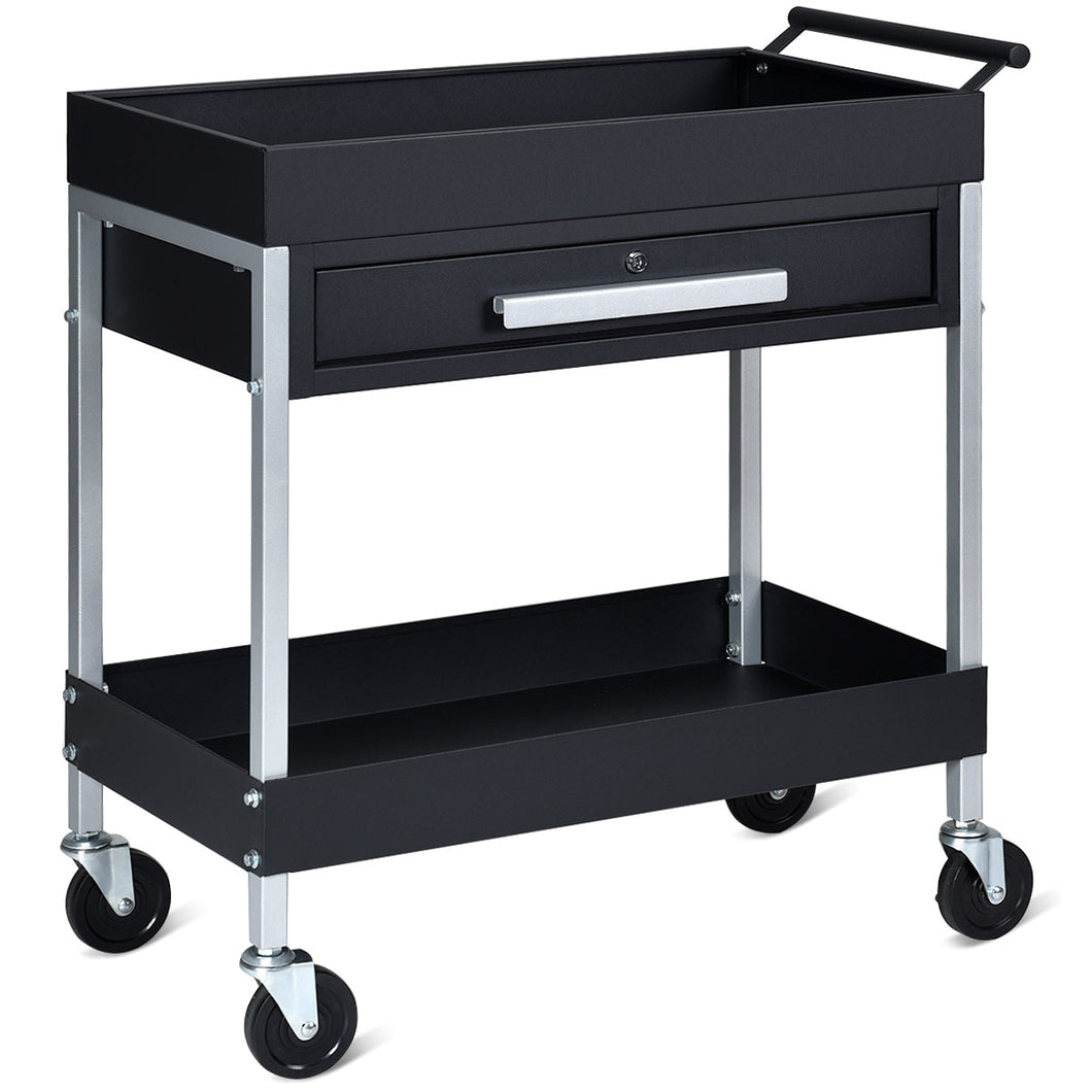 Heavy Duty Rolling Mobile Utility Tool Box Cart | Zincera