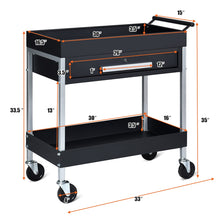 Load image into Gallery viewer, Heavy Duty Rolling Mobile Utility Tool Box Cart | Zincera