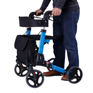 Heavy Duty Rolling 4 Wheeled Walker With Seat And Brakes | Zincera