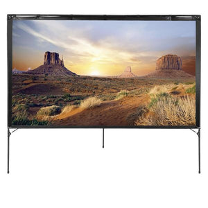 Portable Outdoor Movie Projector Screen 80"