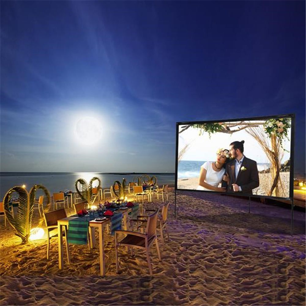 Portable Outdoor Movie Projector Screen 80