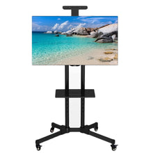 Load image into Gallery viewer, Premium Adjustable Universal Rolling Swivel TV Stand Cart | Zincera