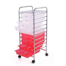 Load image into Gallery viewer, Heavy Duty 10 Drawer Rolling Storage Organizing Cart | Zincera