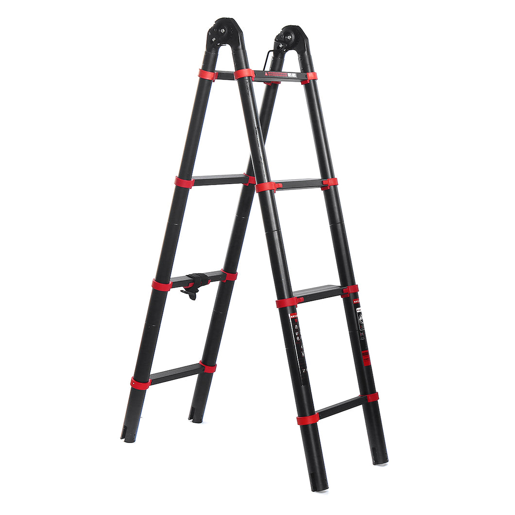 Heavy Duty Extendable Retracting Telescoping Aluminium Ladder | Zincera