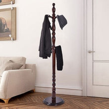 Load image into Gallery viewer, Wooden FreeStanding Entryway Coat Hanger Rack With 8 Hooks | Zincera