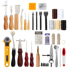 Load image into Gallery viewer, Professional Leather Working Craft Tool Kit 62pcs