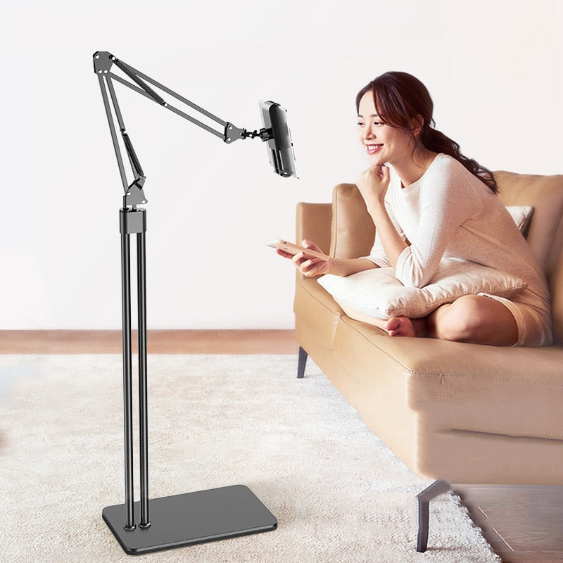 Portable Adjusting iPad/Tablet Holder Floor Stand