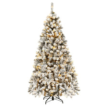 Load image into Gallery viewer, Realistic Prelit Flocked Artificial Christmas Tree 6FT