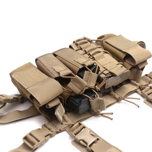 Heavy Duty Tactical Minimalist Molle Chest Rig