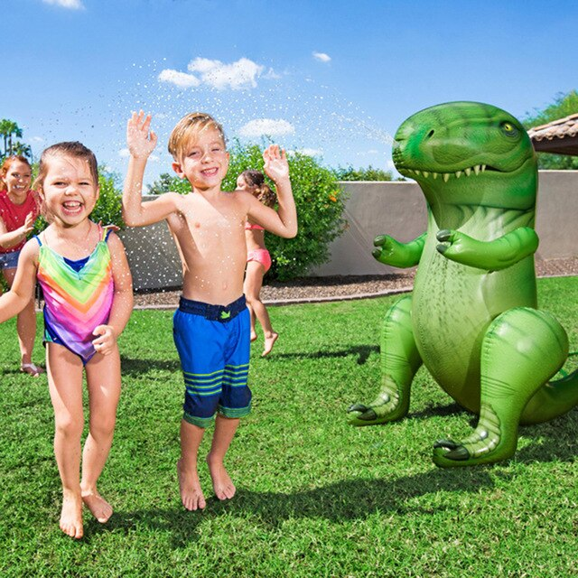 Kids Inflatable Dinosaur Water Sprinkler Toy