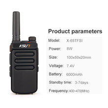 Load image into Gallery viewer, Long Range Waterproof Walkie Talkie Radio 400-470MHz | Zincera