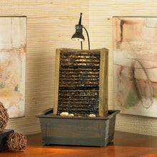 Load image into Gallery viewer, Deluxe Indoor Tabletop Desktop Waterfall Zen Fountain