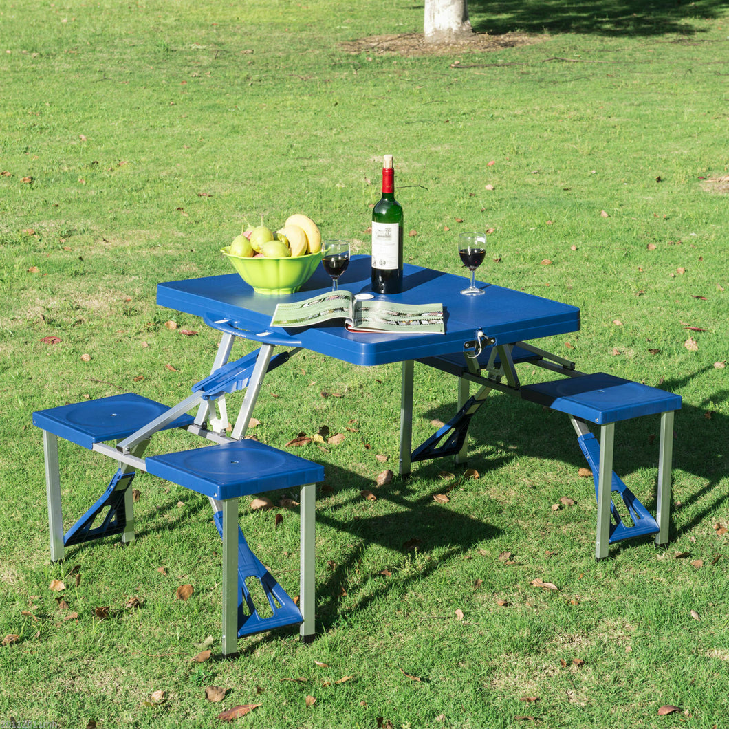 Portable Folding Collapsible Picnic Table And Chairs Bench Set