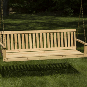 4' Hanging Wooden Outdoor Porch Bench Swing | Zincera