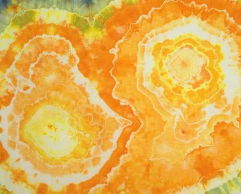Orange Geode Fat Quarter