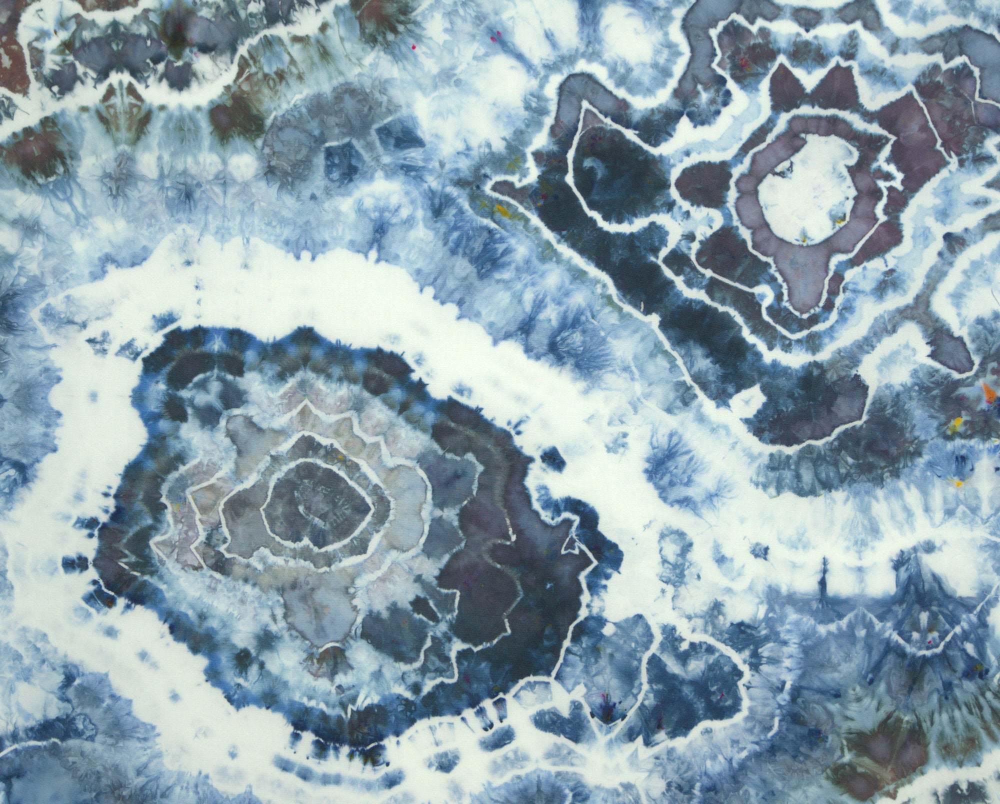 Blue and Brown Geode Fat Quarter