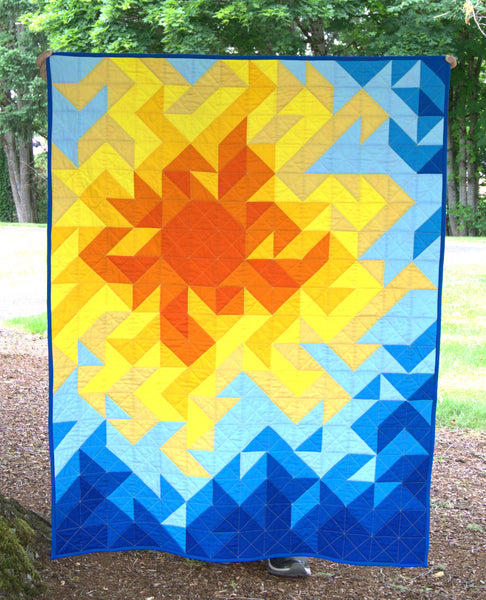Summer Brilliance Handmade Baby Quilt