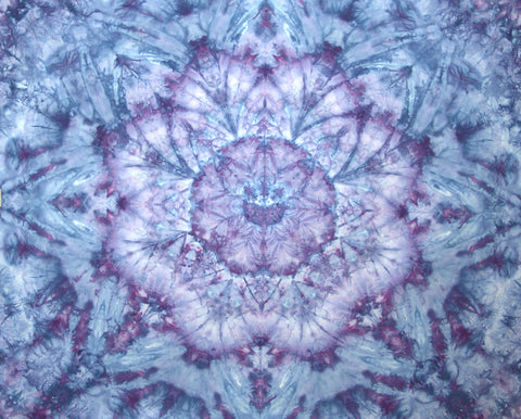 Blue and Purple Quilter's Cotton Mandala