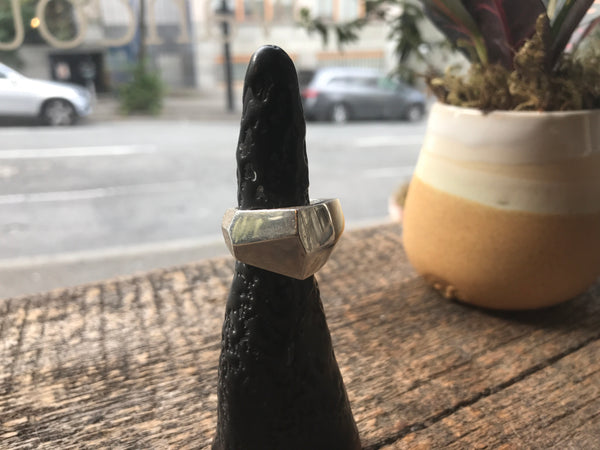 Faceted ring size 8 1/2