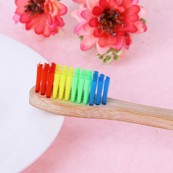 Wood Rainbow Toothbrush