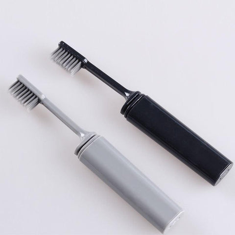 Bamboo Charcoal Folding Toothbrush