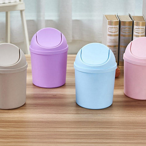 Mini Shake-top Desktop Trash Can