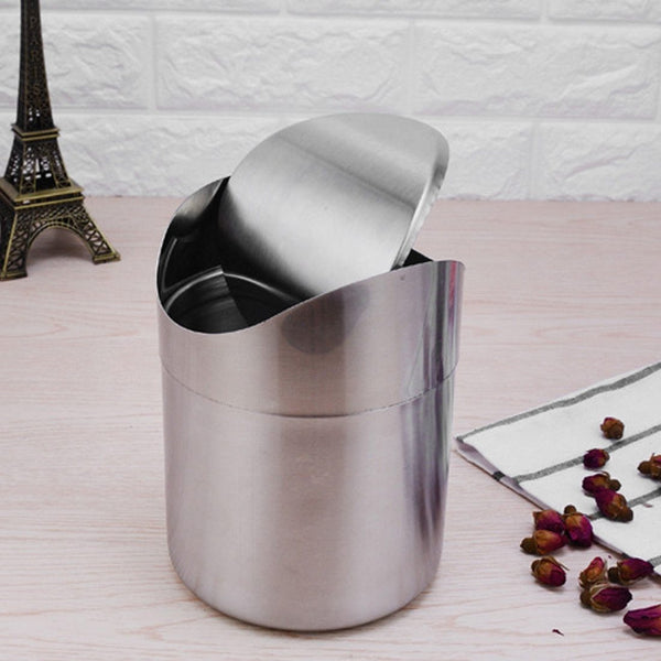 1.5L Stainless Steel Trash Basket