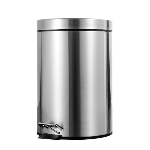 7L Bathroom Trash Can Round