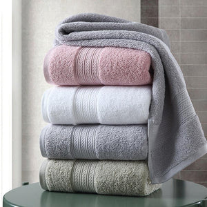 Cotton Towel Set Solid Color Large