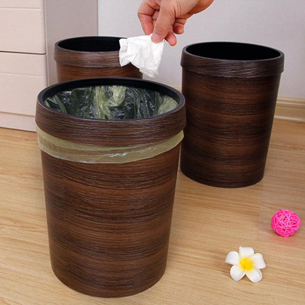Pressing Ring Plastic Trash Can