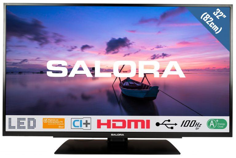 Zwarte 32 inch Salora 32HLB6500 TV