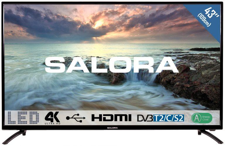 Zwarte 43 inch Salora 43UHL2800 TV