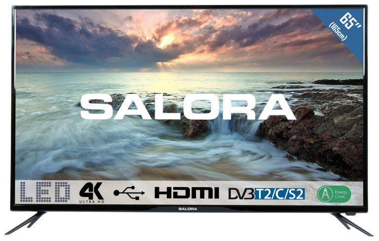 Zwarte 65 inch Salora 65UHL2800 TV