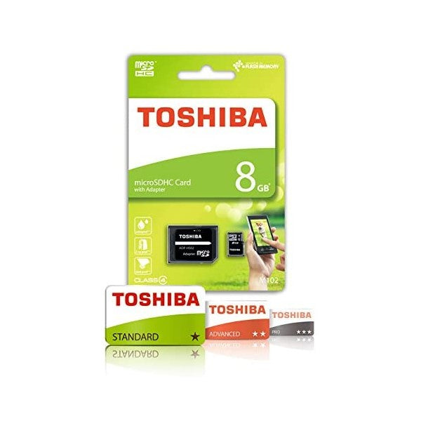 SDHC Geheugenkaart Toshiba HIGH SPEED M102 8 GB (Refurbished A+)
