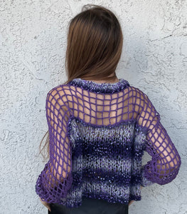 Crewneck Cage Detail Sweater
