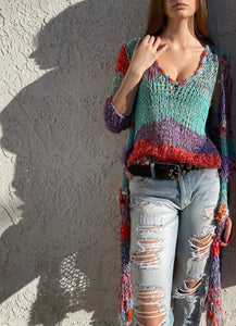 Duster Cardigan And Shell Set