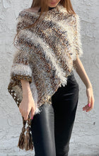 Load image into Gallery viewer, Boho poncho with tassels