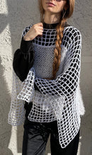 Load image into Gallery viewer, Crocheted Poncho Top