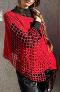 Crocheted Poncho Top