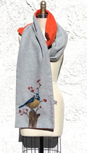 Load image into Gallery viewer, Fleece scarf with felt embellishments