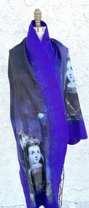 Felt Merino Wool And Silk Shawl