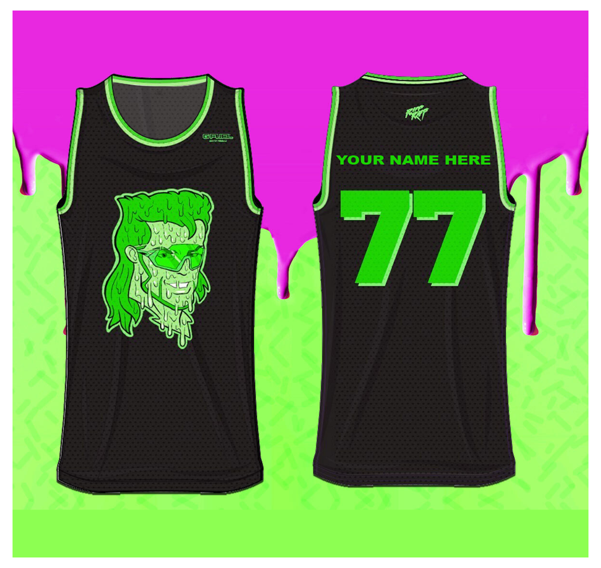 DALE DAN TONY #77 JERSEY (SLiME GREEN) (Custom Option Only)