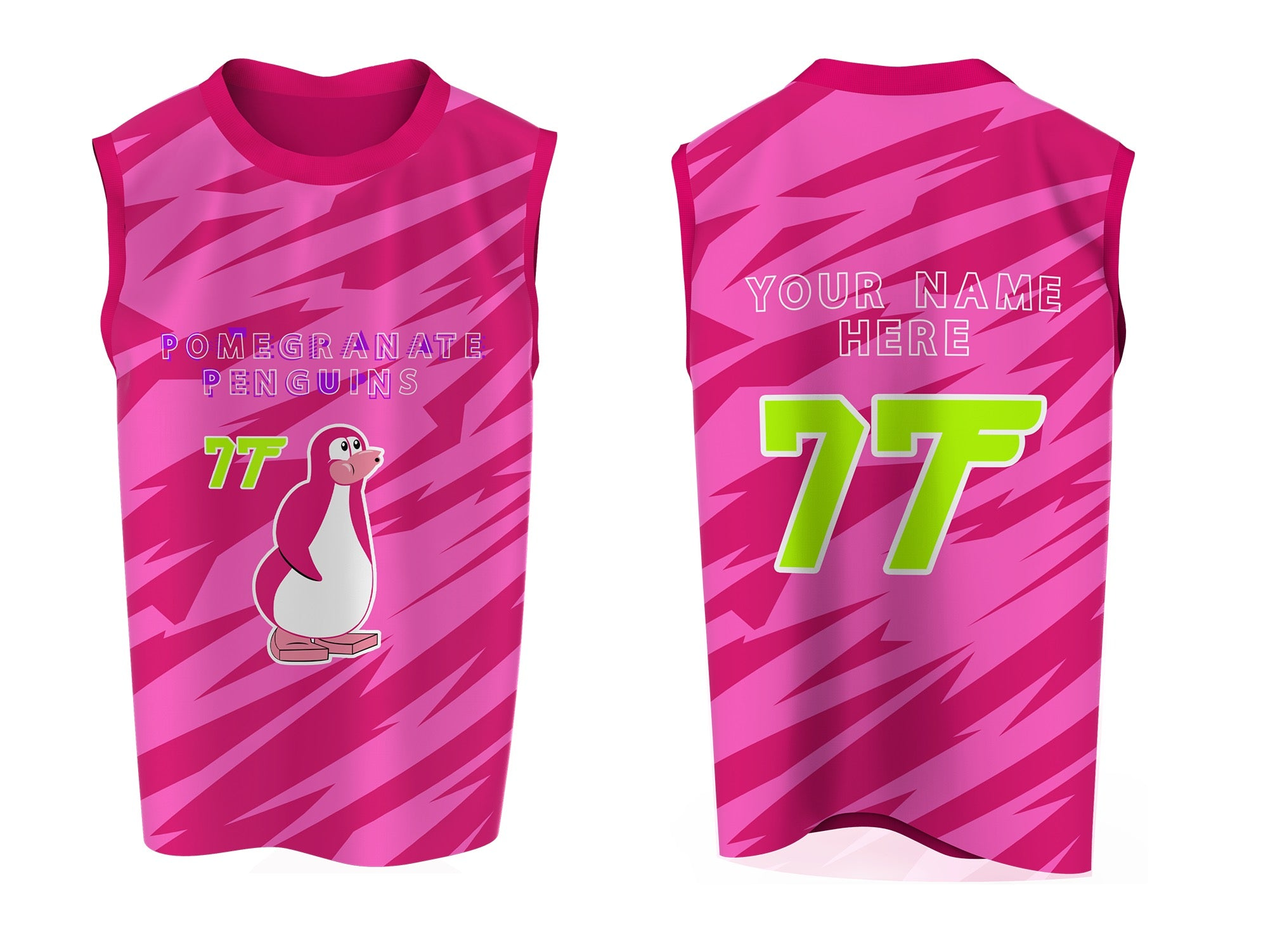 POMEGRANATE PENGUiN JERSEY (Custom Option Only)