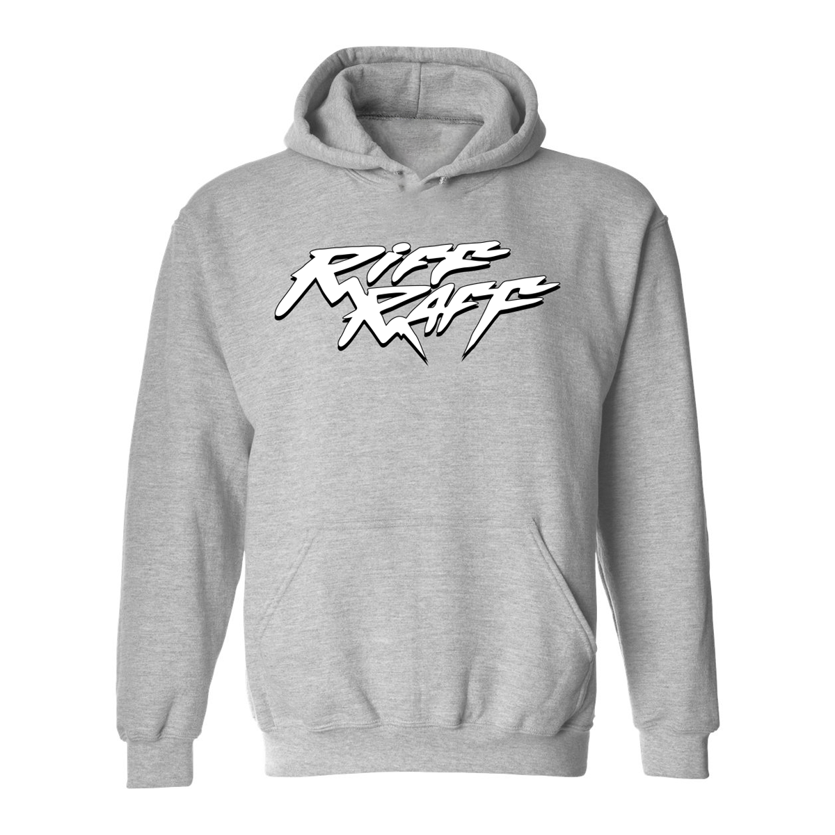 FRESH RiFF OF BEL-AiR HOODIE (GREY - WHiTE LOGO)