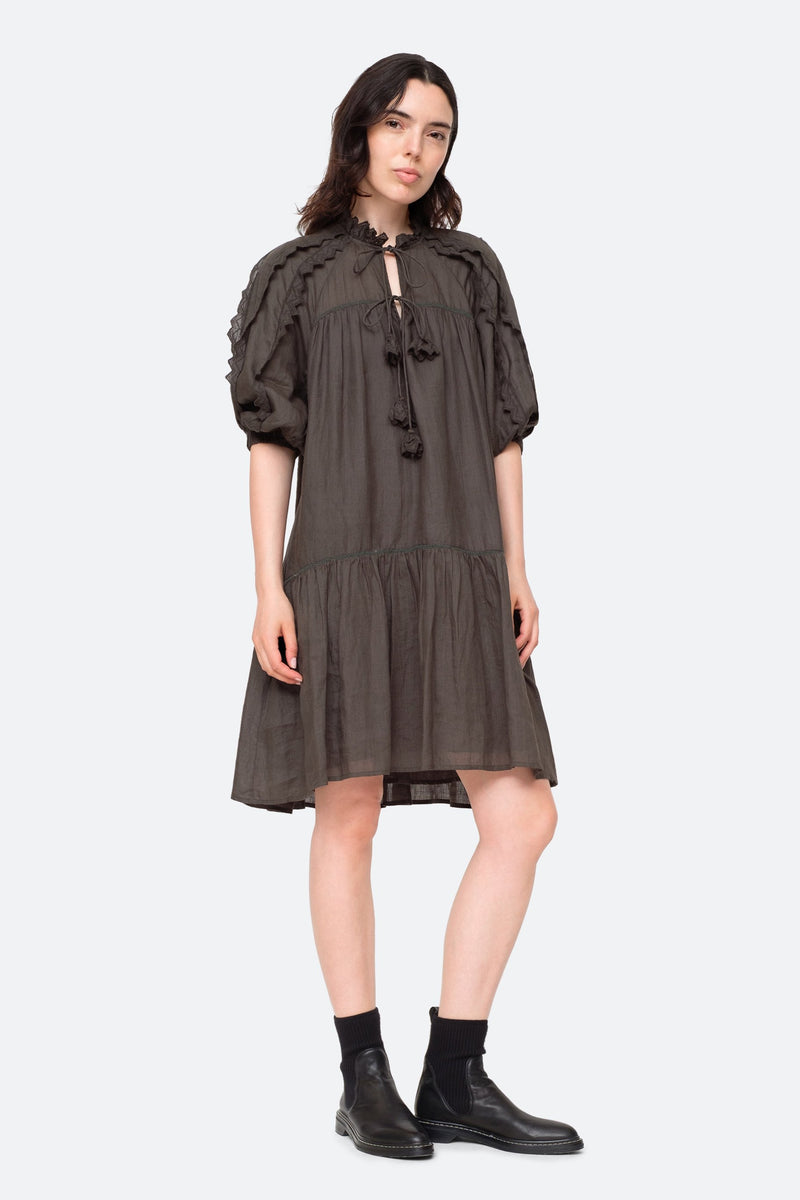 ZIG-ZAG RAGLAN SLEEVE DRESS